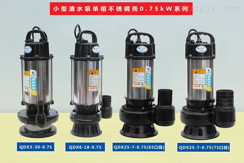 小型清水泵单相不锈壳0.75kW系列