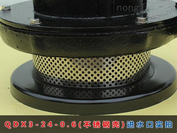 QDX3-24-0.6(不锈钢壳)进水口实拍